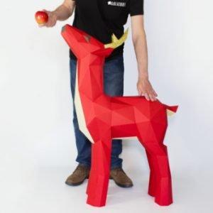 XL Deer Template Papercraft Image