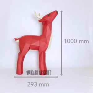 XL Reindeer low poly template