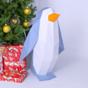 XL Penguin Template Papercraft Image