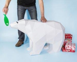 XL Polar Bear Template