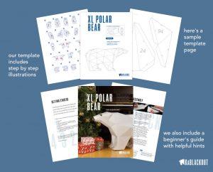 XL Polar Bear Template Papercraft image