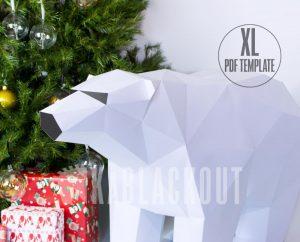 XL Polar Bear Template DIY image
