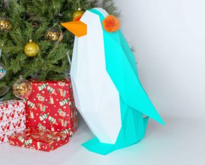 Penguin Papercraft Template Image