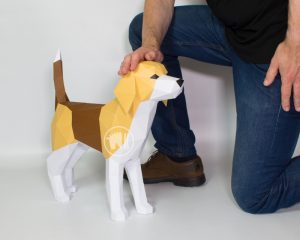Dog Papercraft Template