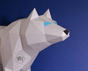 Wolf DIY Papercraft Image