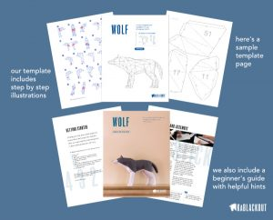 Wolf PDF Papercraft Template Download Image