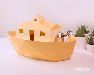 Image showing Low Poly Paper Ark Model