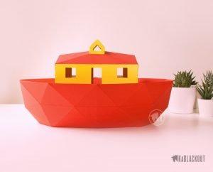 Photograph of Papercraft Noah's Ark