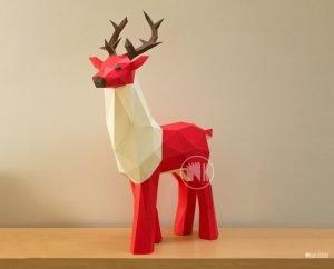Papercraft Deer Template image