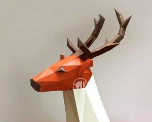 Papercraft Deer Stag Image