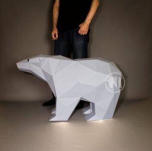 Extra Large Papercraft Polar Bear Image