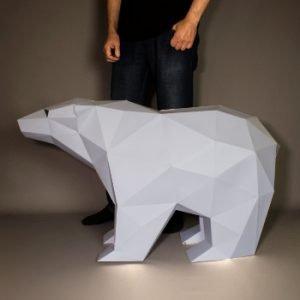Polar Bear Papercraft Image